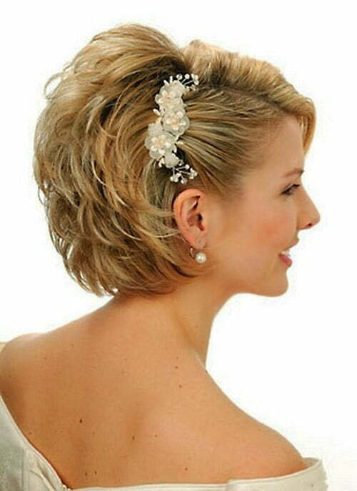 Wedding hairstyles for women with short hair