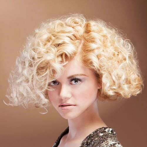Beautiful short curly blonde hair cuts