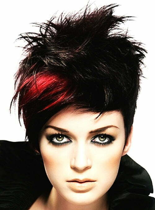 Short black and red hair color styles