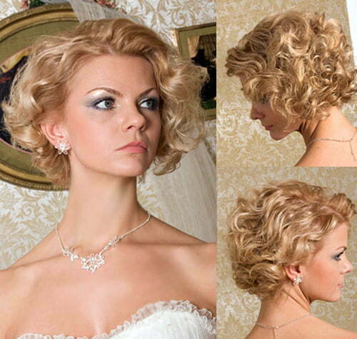 Bridesmaid hairstyles for short curly hair