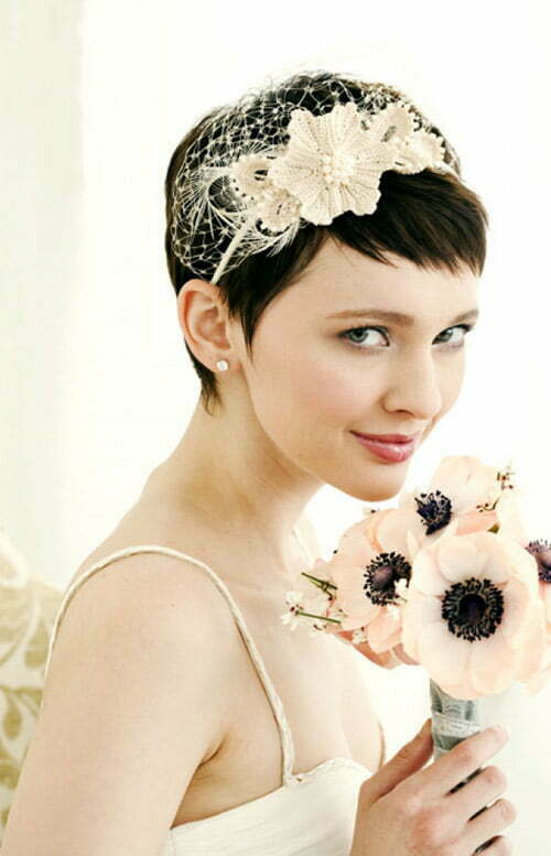 Wedding hair ideas for short hair