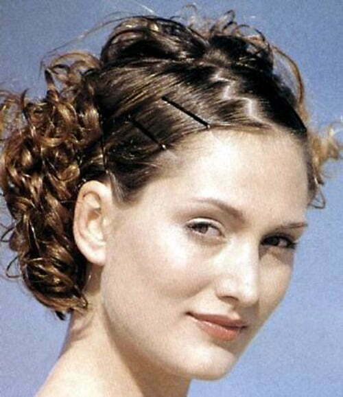 Easy formal hairstyles for short curly hair