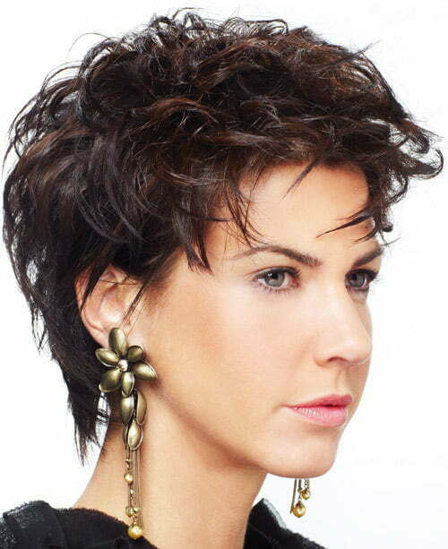 Short Hairstyle For Curly Hair Round Face Haircuts