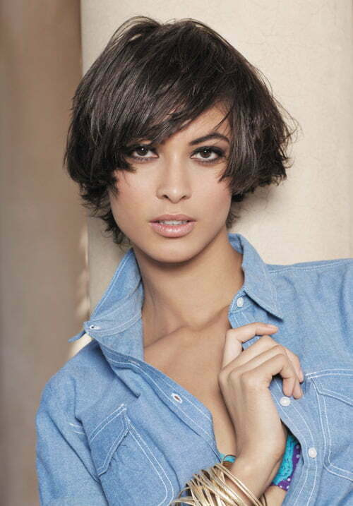 Cute short haircuts for thick straight hair