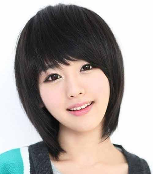 Cute short haircuts with straight bangs