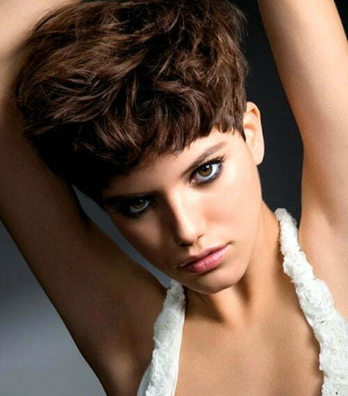 ... haircut and try a short curly hairstyle. It will give you a funky look