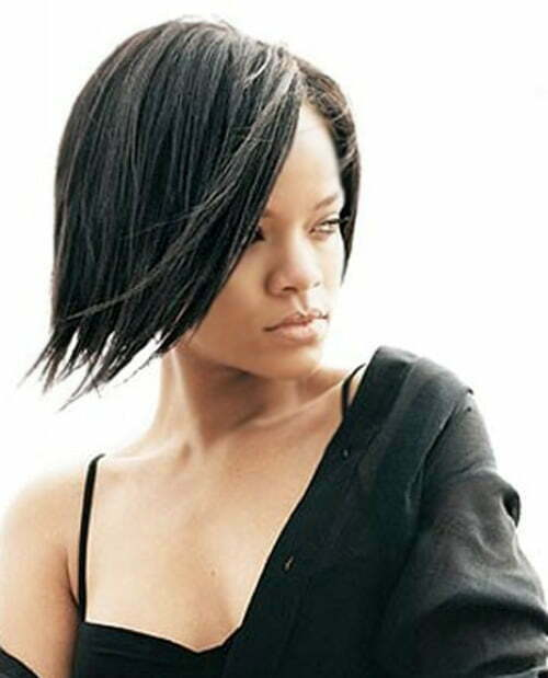 Haircut for short straight black hair