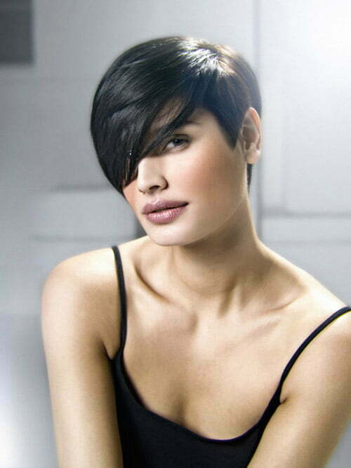 Short black straight hair styles 2013