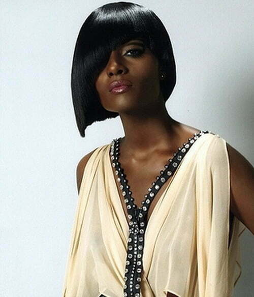 Short straight hairstyles for black women