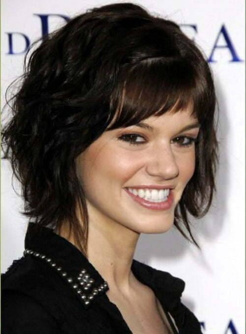 Short hairstyles for thick wavy hair 2012