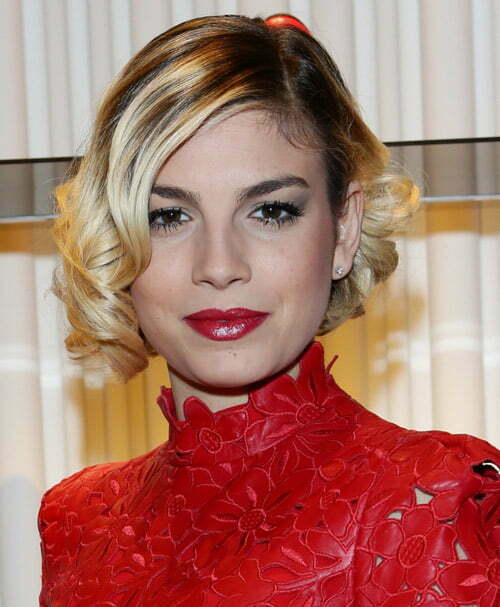 Short wavy blonde hair styles 2013