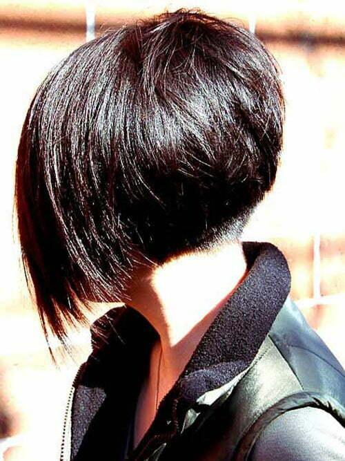 Short angled bob hairstyles 2013