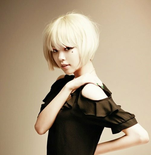 Cute asian bob hairstyle photos