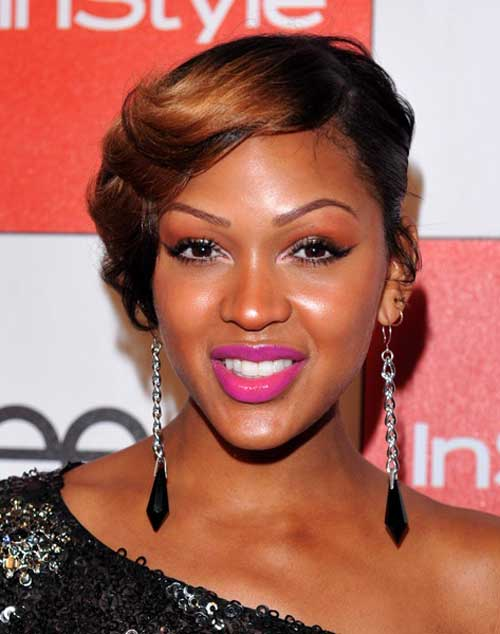 Short asymmetrical hairstyles black women