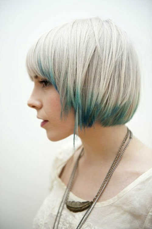 Short blonde and blue hairstyles