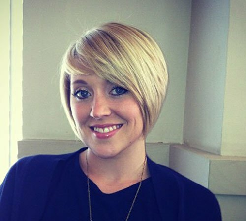 Blonde bob haircuts with bangs