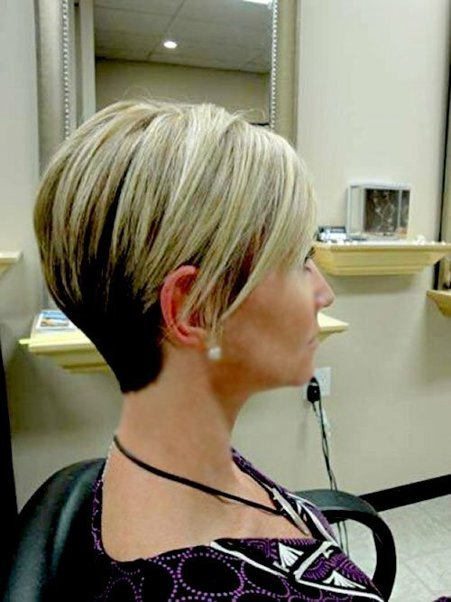 Short Dark Hair with Blonde Highlights