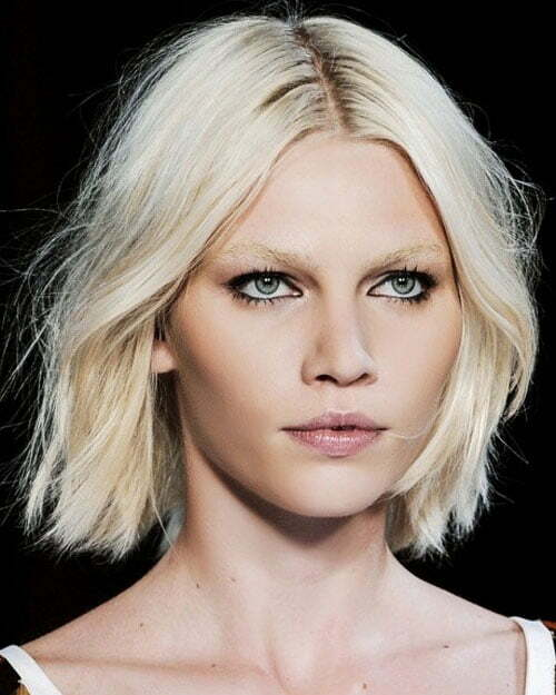 Short blonde haircuts for oval faces