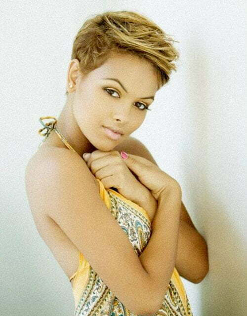 Pixie Cut With Color For Black Women Black Women Blonde Pixie Cuts
