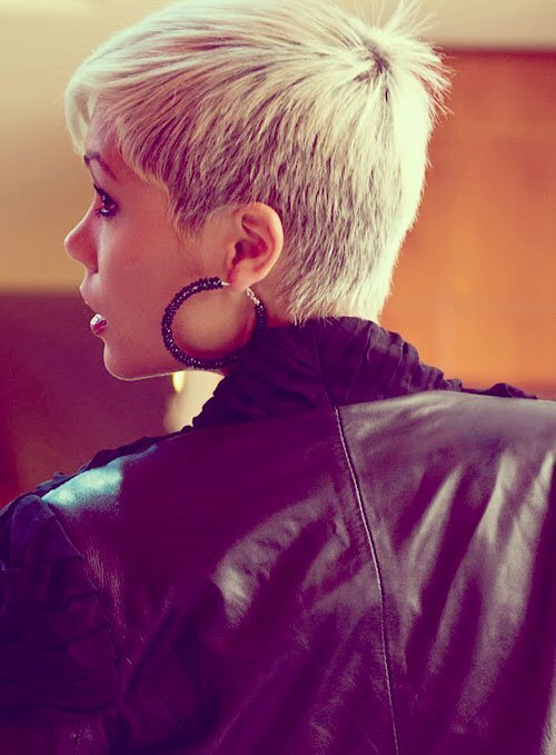 Short blonde pixie haircut photos