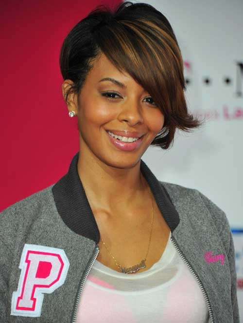 Inverted bob hairstyle for black women