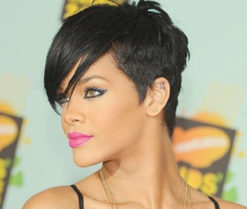 Rihanna short hairstyles for black women