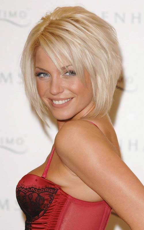 Sarah Harding short blonde hair