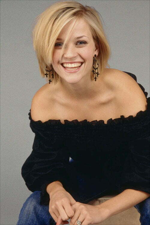Reese Witherspoon short hair bangs