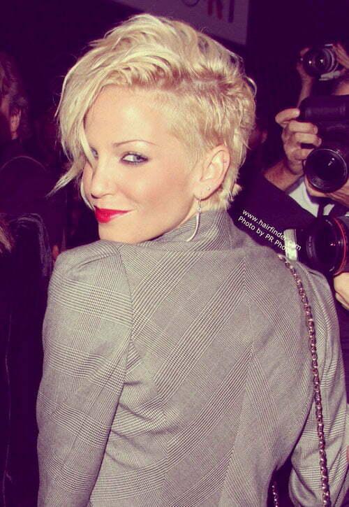 Sarah Harding short hairstyles 2013