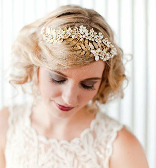 Chic short wedding hair photos