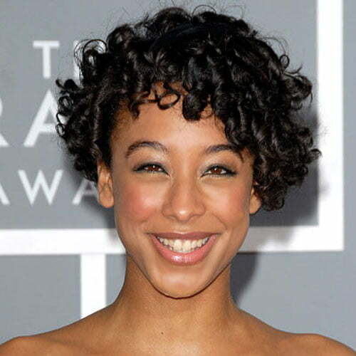 Cute short curly haircuts for black women