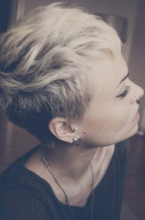 Funky short hairstyles for women 2013