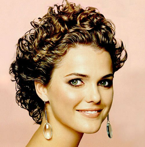 Keri Russell short curly haircut pictures
