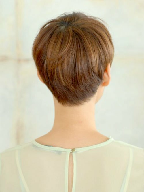short pixie haircuts front back view