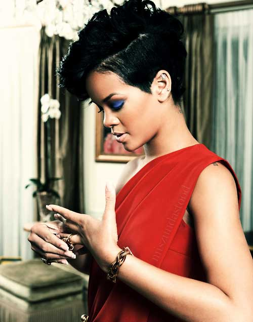 Black celebrity short haircut