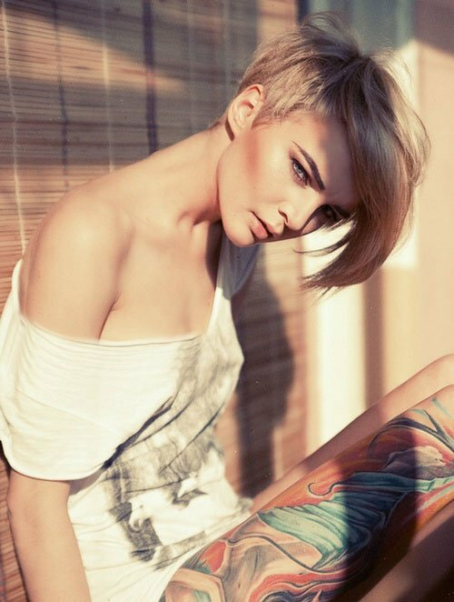 Short blonde hairstyles for girls