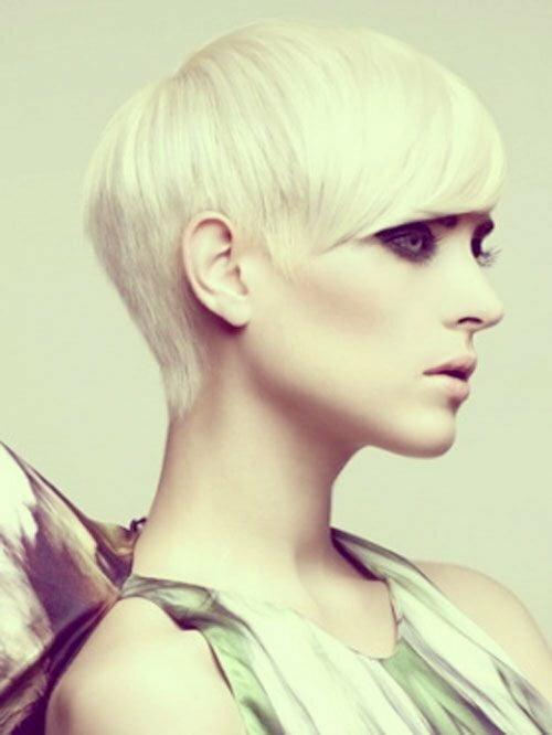Short blonde pixie haircut photos