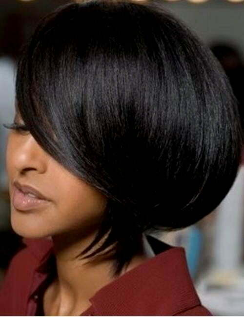 Pictures of short bob haircuts for black women