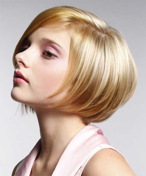 short bob hairstyles with side view