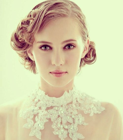 Short curly wedding hairstyles 2013