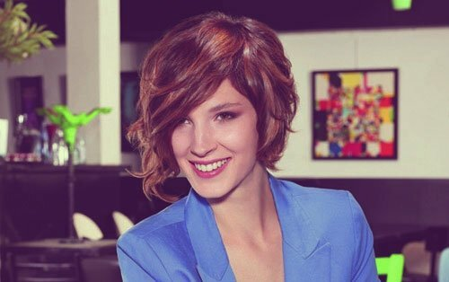 Short dark hairstyles for women 2013
