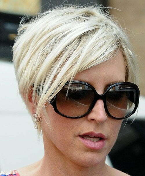 Short inverted bob haircut 2013