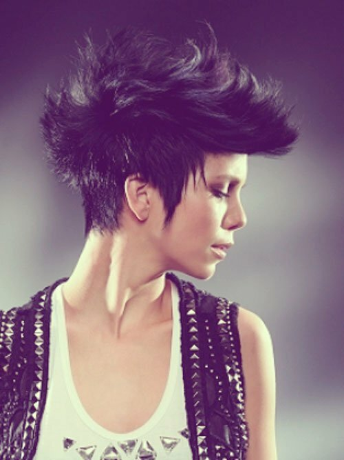 Short mohawk haircuts for girls