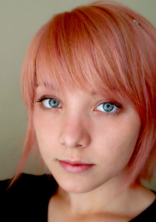 Cute short pink hair color