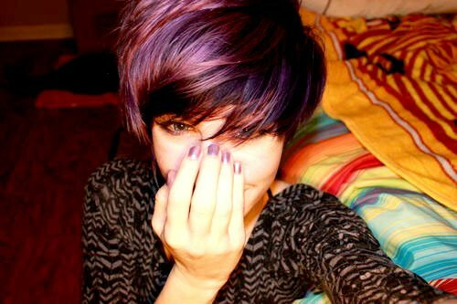 Dark purple hair color pictures