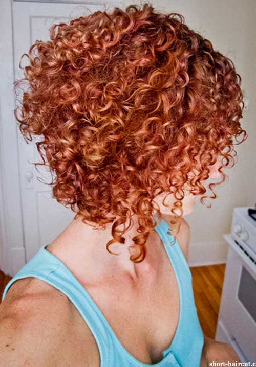 Short red curly haircuts