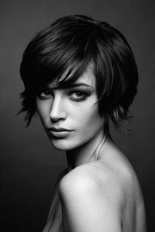Super short trendy hairstyle