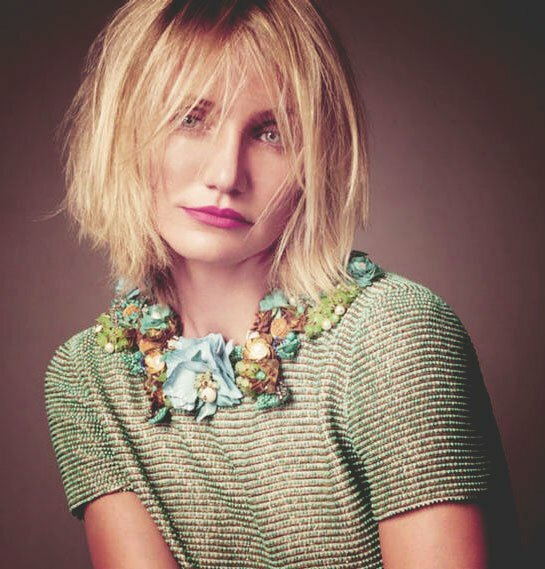 Cameron Diaz short messy hairstyles