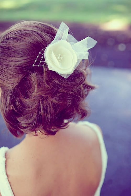 Wedding hairstyles for short hair back view