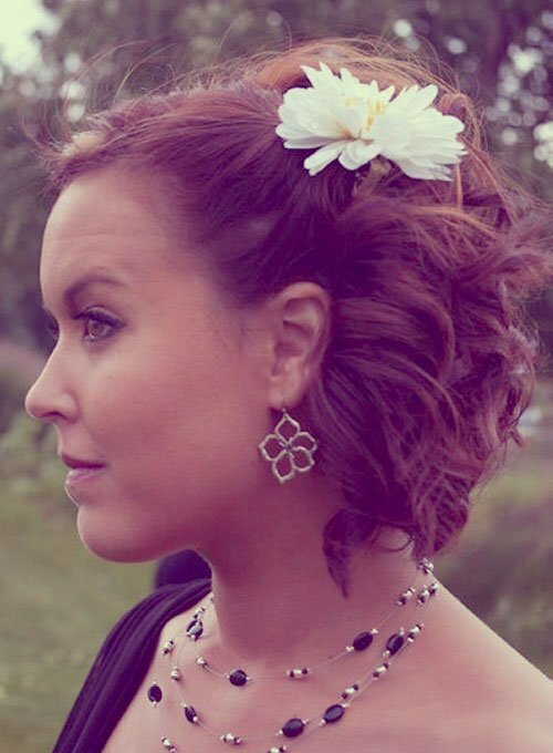 Half updo hairstyles